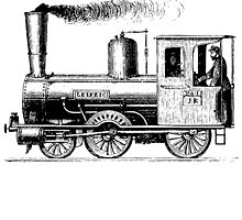 Vintage European Train A7 by cartoon