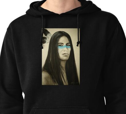 Native Blue Pullover Hoodie
