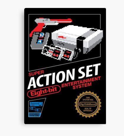 Super Action Set Canvas Print
