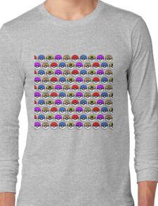 Perfect Pokeball Pattern Long Sleeve T-Shirt