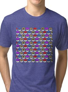 Perfect Pokeball Pattern Tri-blend T-Shirt