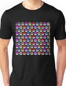 Perfect Pokeball Pattern Unisex T-Shirt