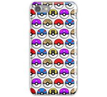 Perfect Pokeball Pattern iPhone Case/Skin