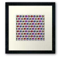 Perfect Pokeball Pattern Framed Print