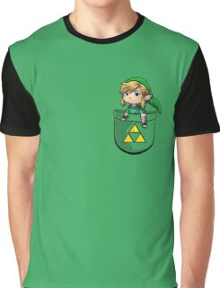 Pocket Link Hero of Time Zelda with Triforce Graphic T-Shirt