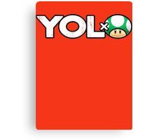 YOLO 1-Up Mushroom Nintendo Logic T-Shirt  Canvas Print