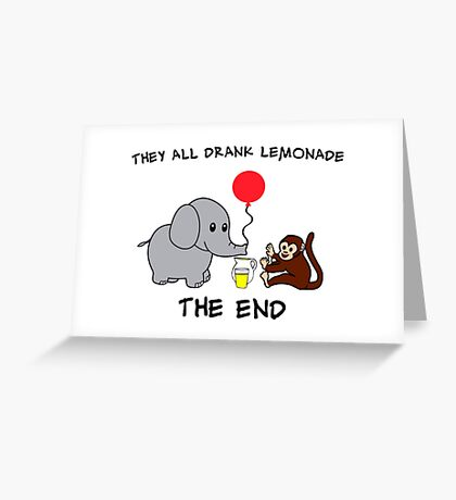 The Elephant Who Lost His Balloon Greeting Card