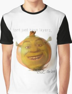 Shrek is an Onion Meme Graphic T-Shirt