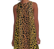 Mosaic Animal Print A-Line Dress