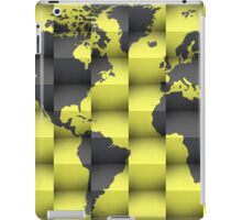 3d World map composition iPad Case/Skin