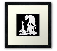 The Last - White Brush  Framed Print
