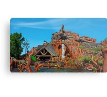 Splash Mountain Metal Print