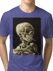 Vincent Van Gogh - Head Of A Skeleton With A Burning Cigarette, January 1886 - February 1886  Tri-blend T-Shirt