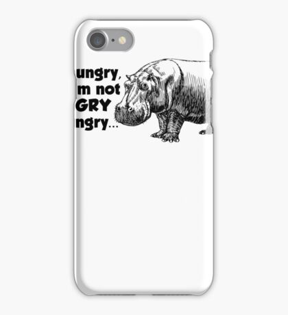 I'm hungry, but I'm not HUNGRY hungry iPhone Case/Skin