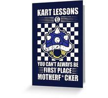 Kart Lessons #01 Greeting Card