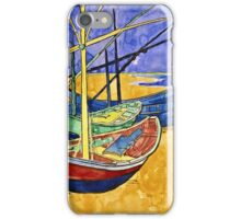 Vincent Van Gogh - Fishing Boats On  Beach At Saintes Maries De La Mer  iPhone Case/Skin