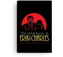 The Adventures of Erik & Charles Canvas Print
