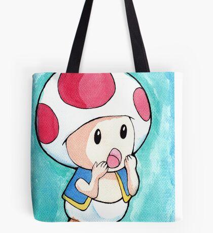 Watercolor Toad (Mario games) Tote Bag