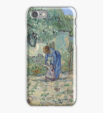 Vincent Van Gogh - First Steps (After Millet), 1890 iPhone Case/Skin