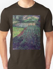 Vincent Van Gogh - Field With Poppies, 1889 Unisex T-Shirt