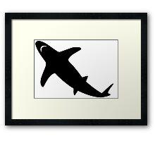 Shark Silhouette Framed Print