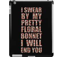 By My Pretty Floral Bonnet iPad Case/Skin