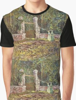 Vincent Van Gogh - Entrance To  Park At Voyer-Dargenson In Asnieres, 1887 Graphic T-Shirt