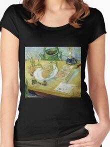 Vincent Van Gogh - Drawing Board, Pipe, Onions And Sealing Wax, 1889 Women's Fitted Scoop T-Shirt