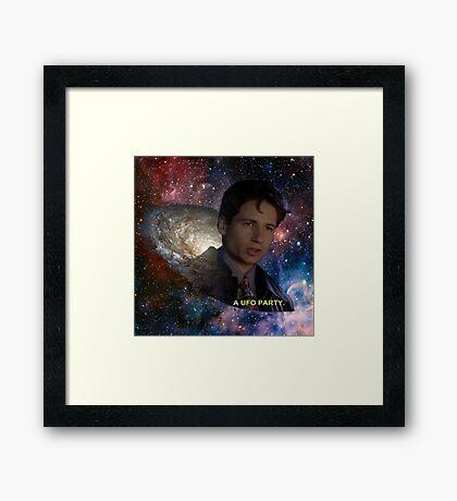 Spaced Out Mulder Framed Print
