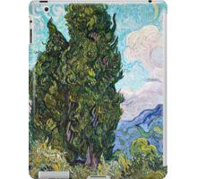 Vincent Van Gogh - Cypresses 1989  iPad Case/Skin