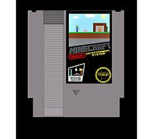 Minecraft NES Cartridge Photographic Print