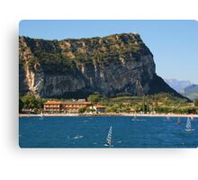 Windsurfers at Torbole, Lake Garda Canvas Print