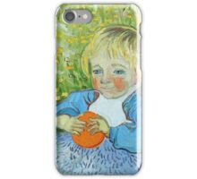 Vincent Van Gogh - Child With An Orange, 1890 iPhone Case/Skin
