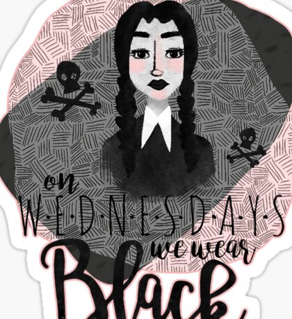 On Wednesdays We Wear Black Sticker