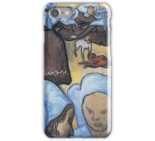 Vincent Van Gogh - Breton Women (After Emile Bernard), 1888 iPhone Case/Skin
