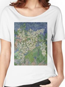 Vincent Van Gogh - Blossoming Chestnut Branches 1890 Women's Relaxed Fit T-Shirt