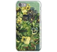 Vincent Van Gogh - Basket Of Pansies  iPhone Case/Skin