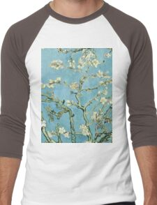 Vincent Van Gogh - Almond Blossom, February 1890 - 1890  Men's Baseball ¾ T-Shirt