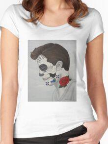 Sugar Skull Boy Women's Fitted Scoop T-Shirt