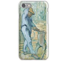 Vincent Van Gogh -  Woodcutter (After Millet) 1890 iPhone Case/Skin