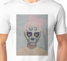 Sugar Skull Girl Pink Hair Unisex T-Shirt
