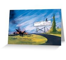 Weary Traveller Greeting Card