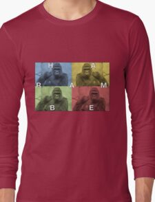 Harambe does Pop Culture  Long Sleeve T-Shirt