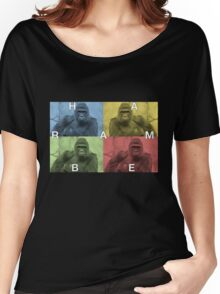 Harambe does Pop Culture  Women's Relaxed Fit T-Shirt