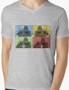 Harambe does Pop Culture  Mens V-Neck T-Shirt