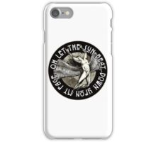 ICARUS THROWS THE HORNS - monochrome NEW DESIGN iPhone Case/Skin