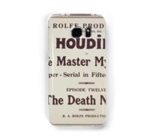 Performing Arts Posters Houdini in The master mystery a super serial in fifteen episodes 2837 Samsung Galaxy Case/Skin