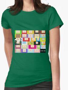 Katamari Faces Womens Fitted T-Shirt