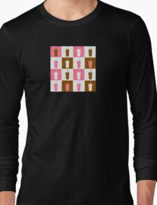 Coffee cup abstract stylized background Long Sleeve T-Shirt