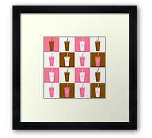 Coffee cup abstract stylized background Framed Print